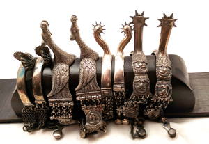 A collection of spurs from around the world