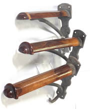 Antique walnut saddle or harness racks for sale