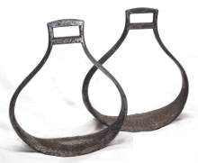 Link to hussar or cradle pattern military stirrups for sale
